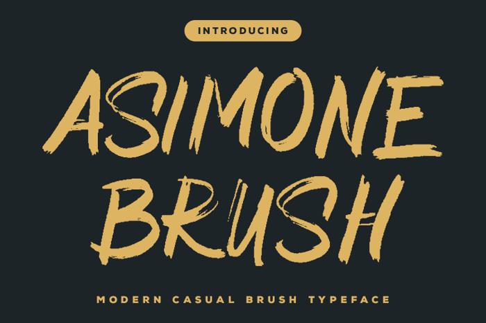 Asimone Brush Font poster