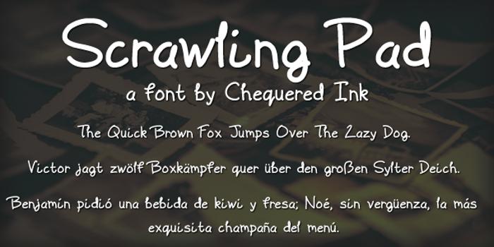 Scrawling Pad Font poster