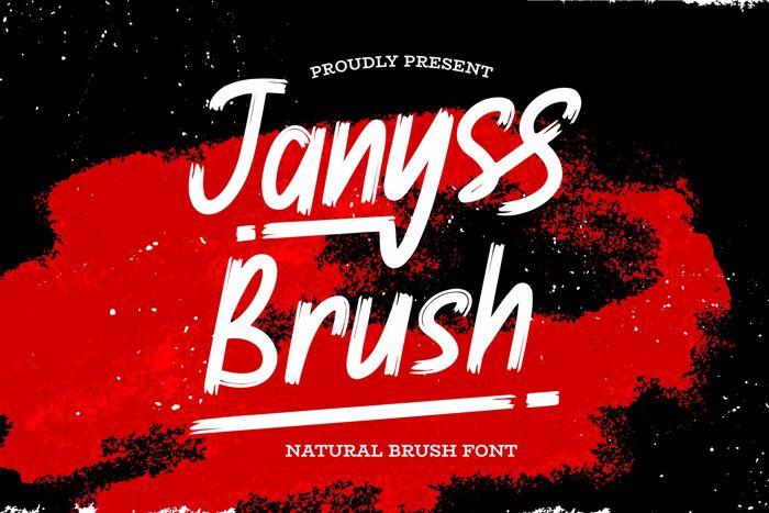 Janyss Brush Font poster