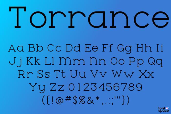 Torrance Font poster