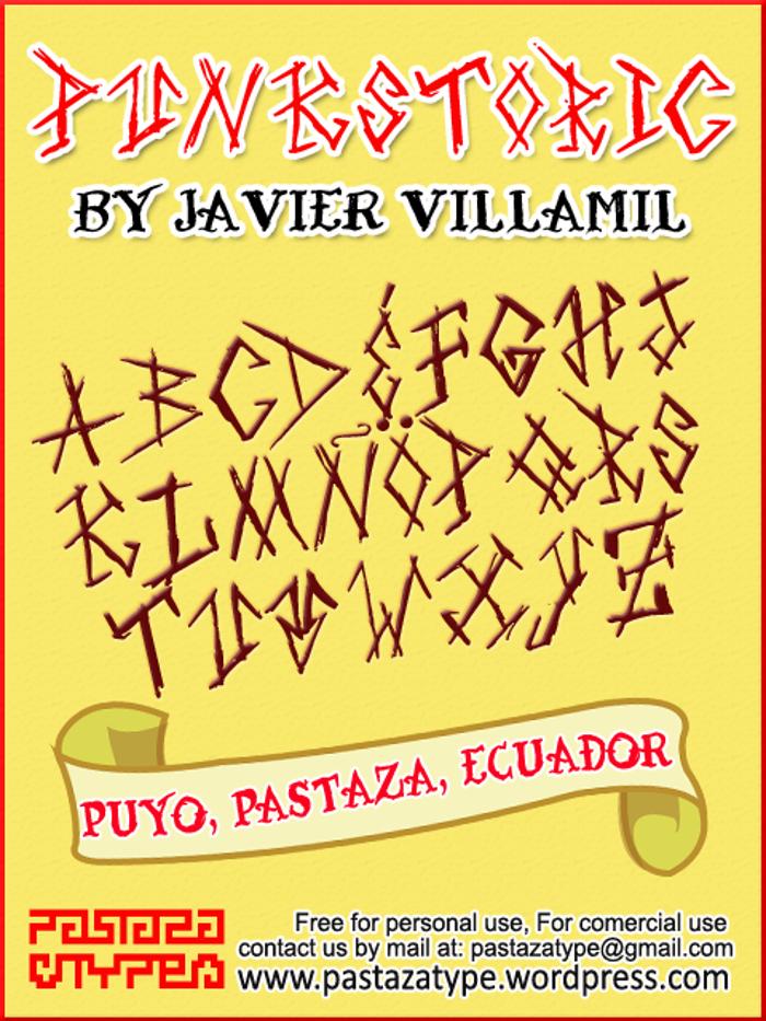 Punkstoric Font poster