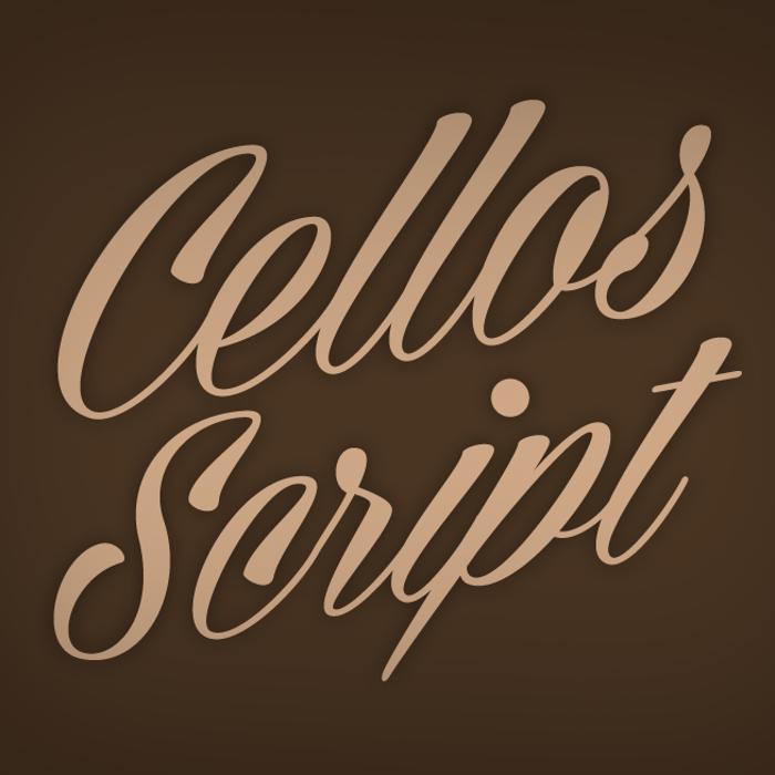Cellos Script Font poster