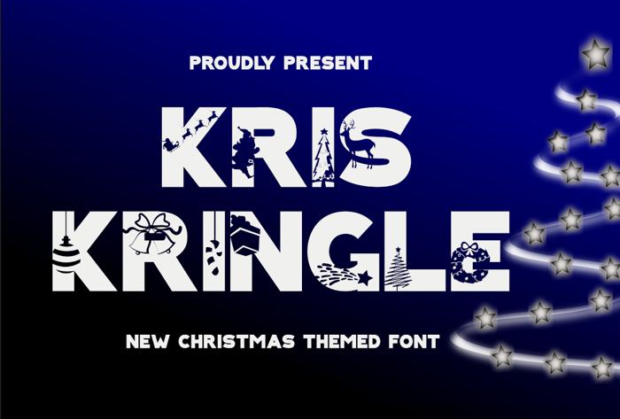 KRIS KRINGLE Font poster