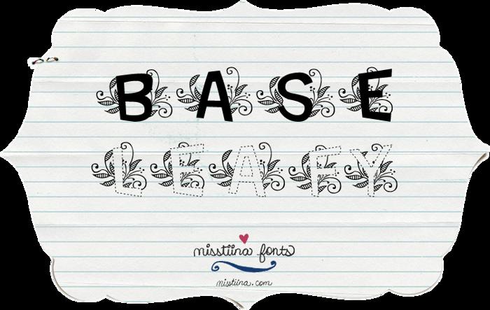 MTF Base Leafy Font poster