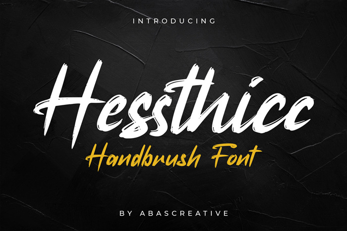 Hessthicc Font poster