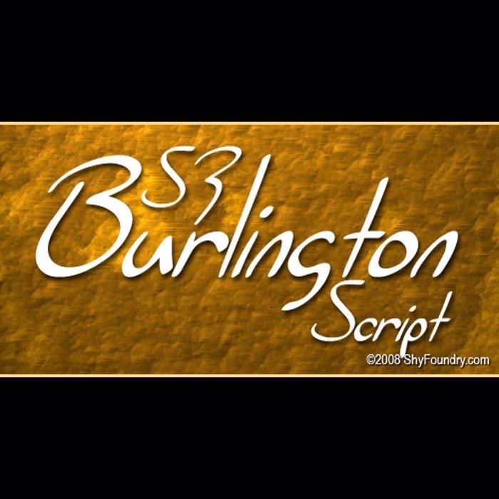 SF Burlington Script Font poster