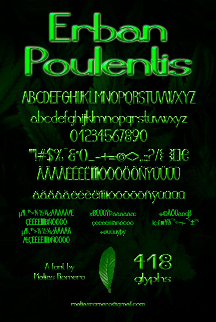 Erban Poulentis Font poster