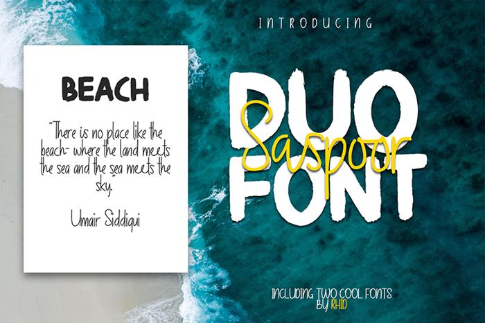 Saspoor Bold Font poster