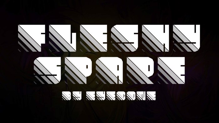 Fleshy Spare Font poster