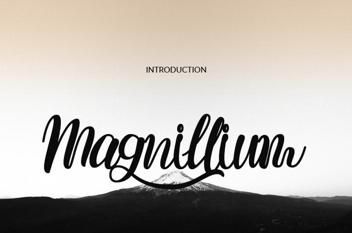 Magnillium Font poster