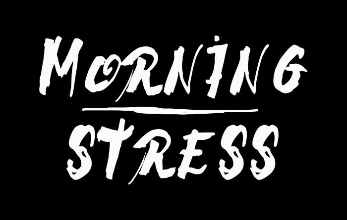Morning Stress Font poster