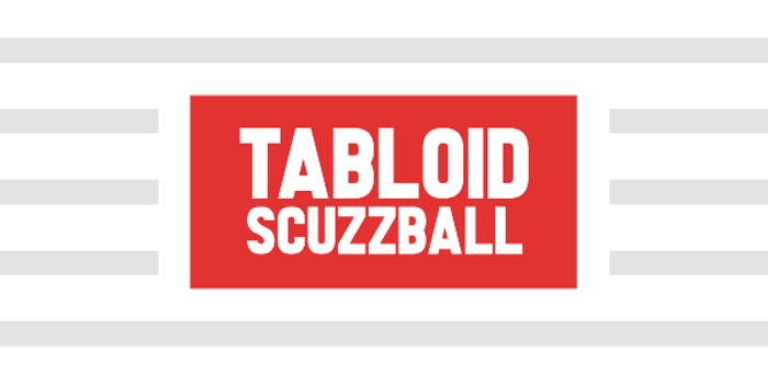 Tabloid Scuzzball Font poster