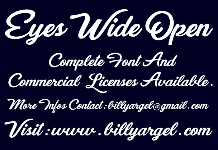 Eyes Wide Open Font poster