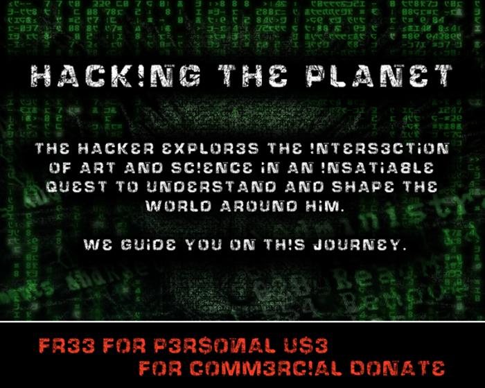 HackingTrashed Font poster