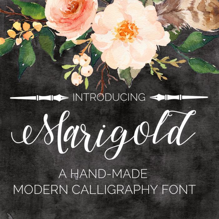 Marigold Font poster