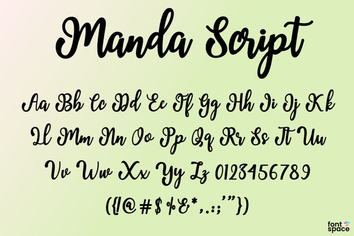 Manda Script Font poster
