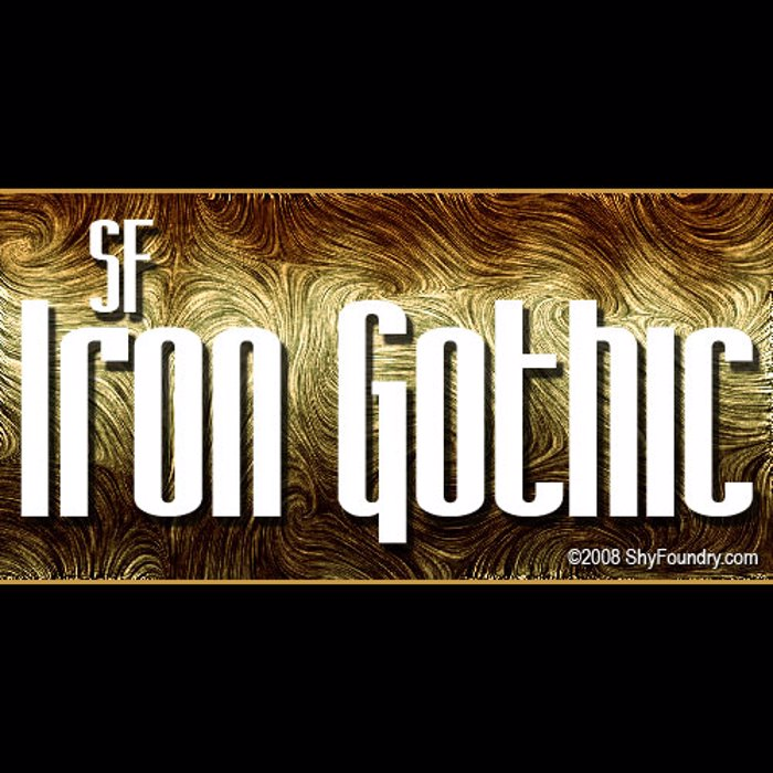 SF Iron Gothic Font poster