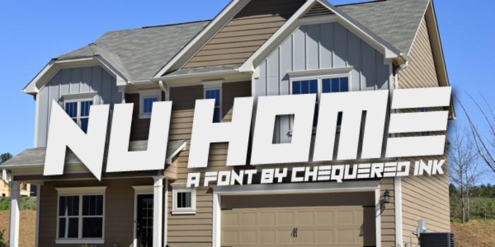 Nu Home Font poster