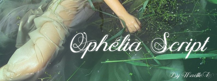 Ophélia Script Font poster