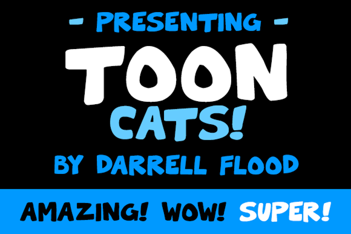 Toon Cats Font poster