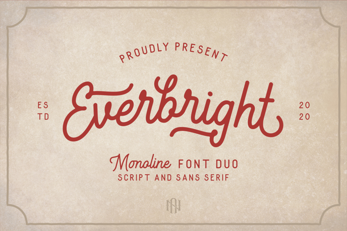Everbright Font poster