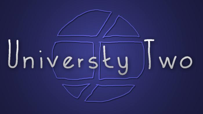 UniversityTwo Font poster