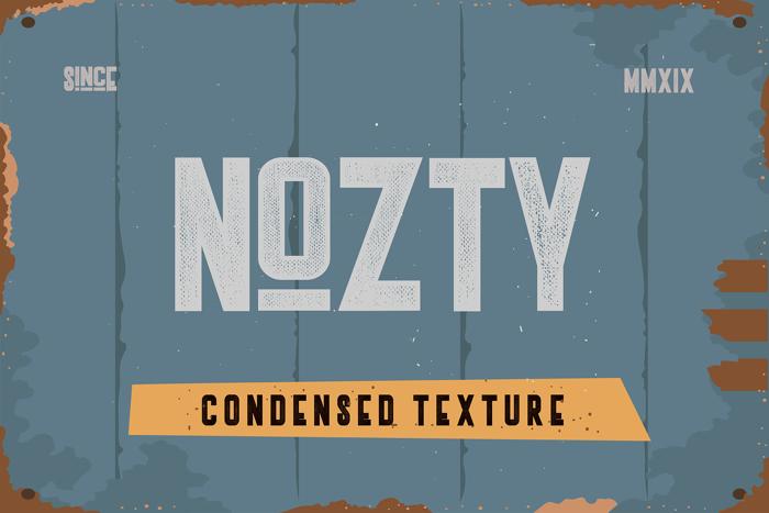 Nozty Font poster