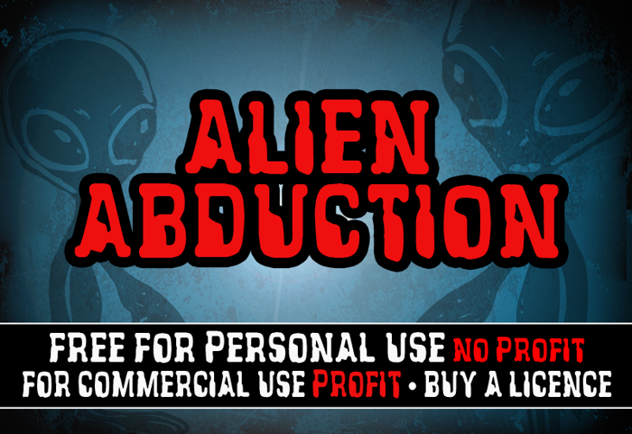 CF Alien Abduction Font poster