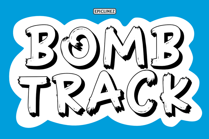 Bombtrack Font poster