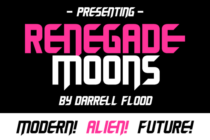 Renegade Moons Font poster