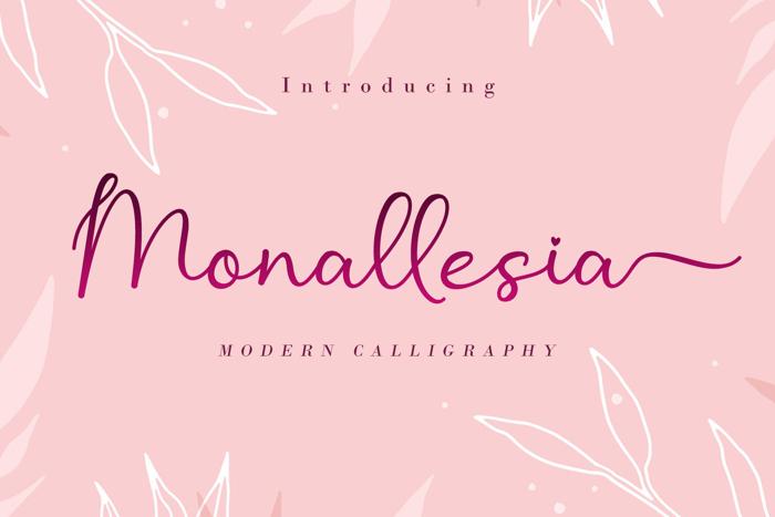Monallesia Script Font poster