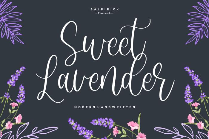 Sweet Lavender Font poster