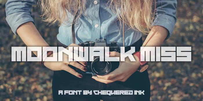 Moonwalk Miss Font poster