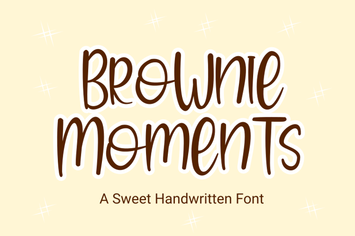 Brownie Moments Font poster