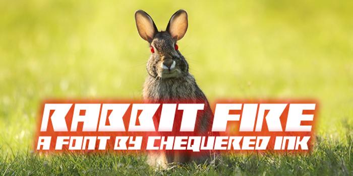 Rabbit Fire Font poster