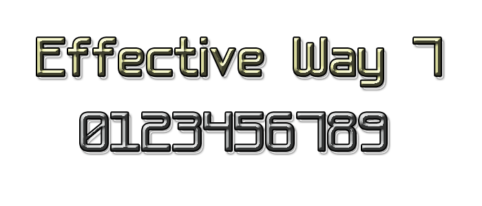 Effective Way 7 Font poster