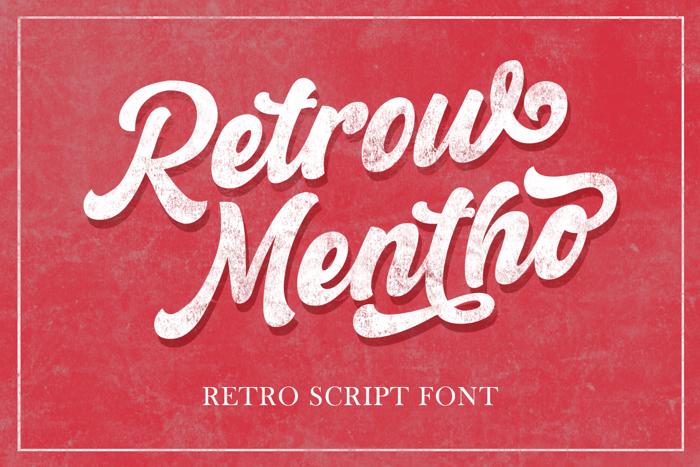 Retrow Mentho Font poster