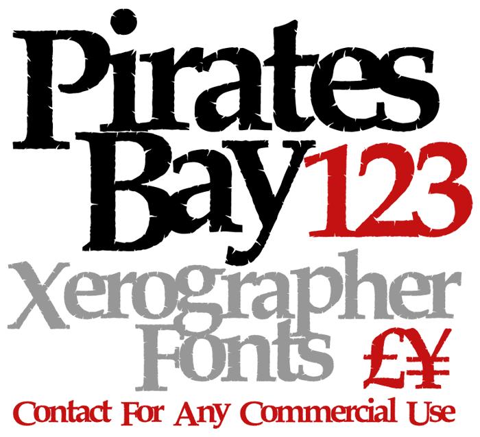 PiratesBay Font poster