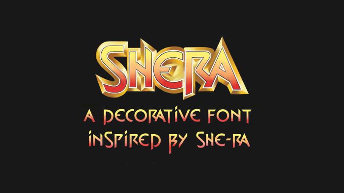 shera Font poster