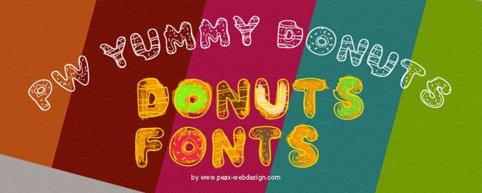 PWYummyDonuts Font poster