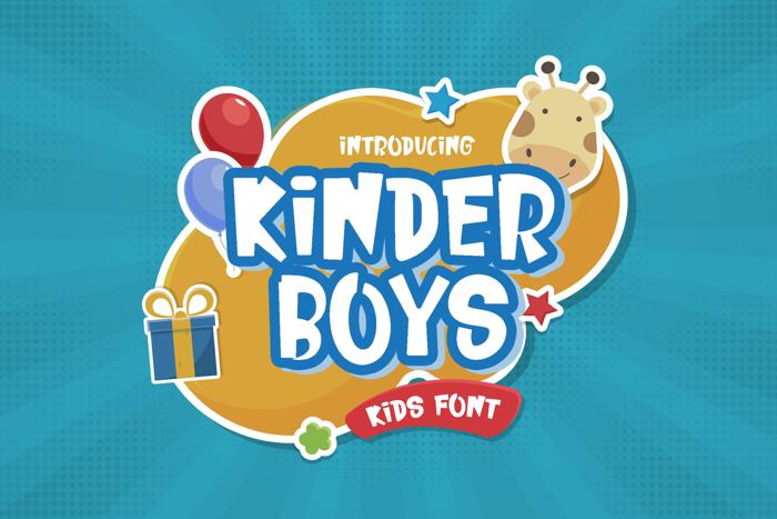 Kinder Boys Font poster