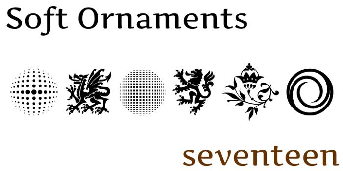 Soft Ornaments Seventeen Font poster