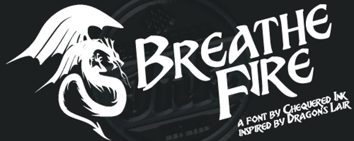 Breathe Fire Font poster