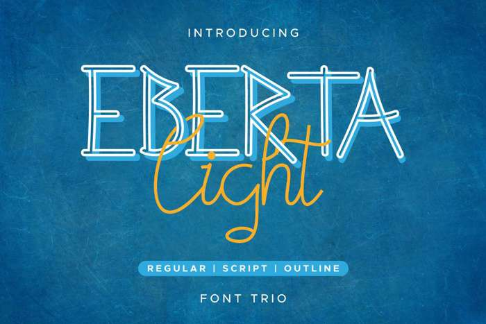 Eberta Light Font poster