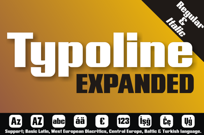 Typoline Expanded Font poster