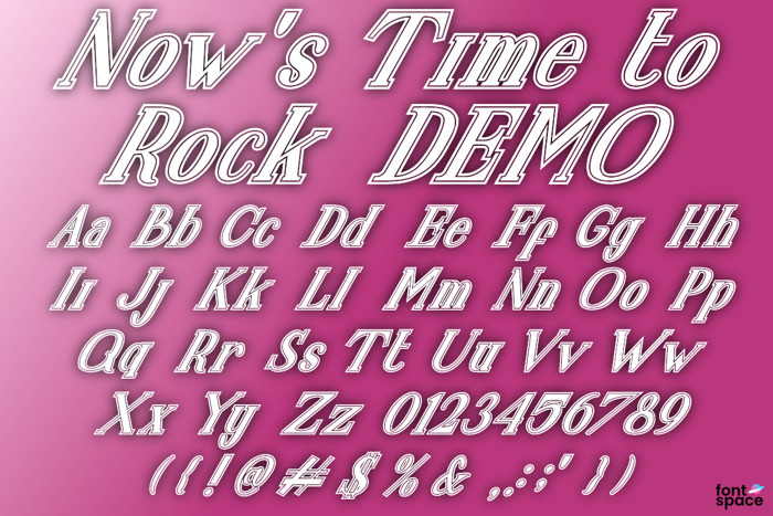 Now's Time to Rock Font poster