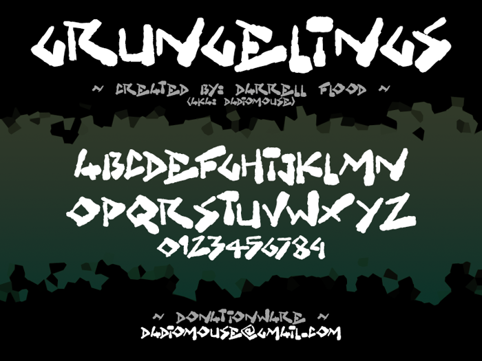Grungelings Font poster