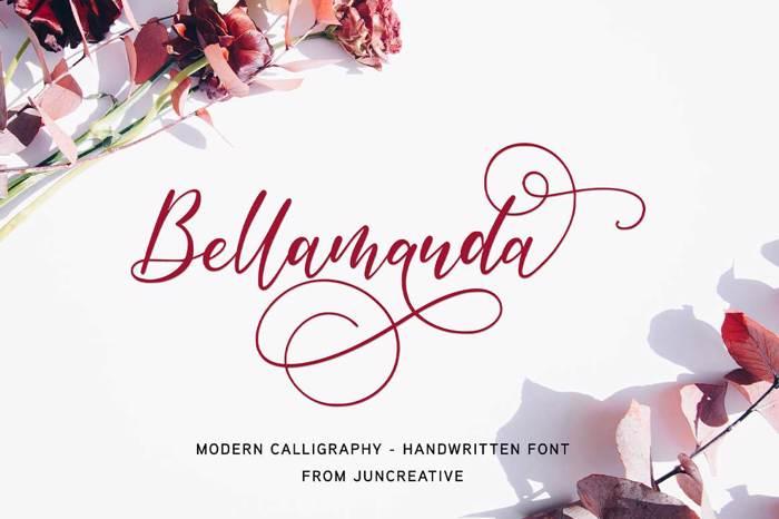 Bellamanda Font poster