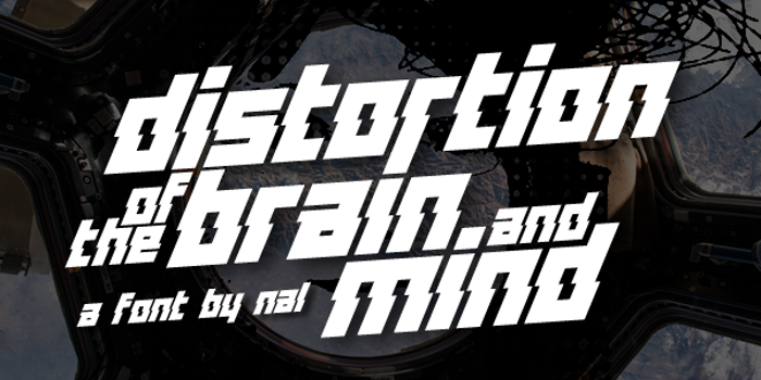 Distortion Of The Brain And Min Font poster