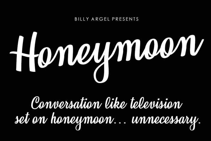Honeymoon Font poster